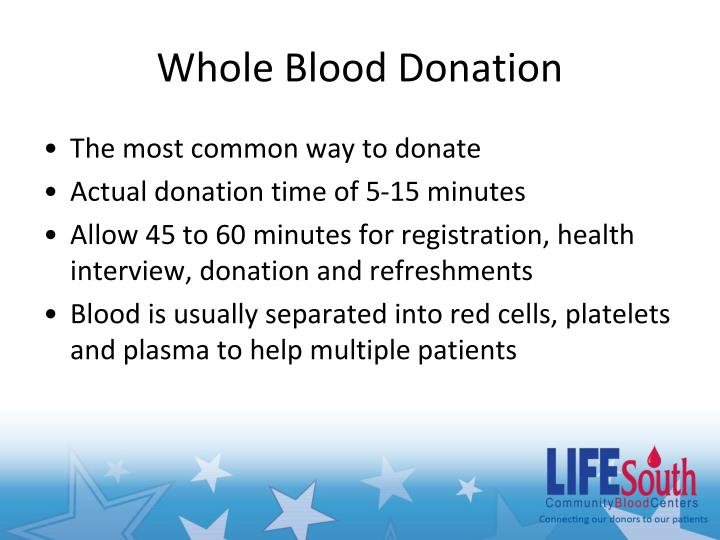 Whole Blood Donation