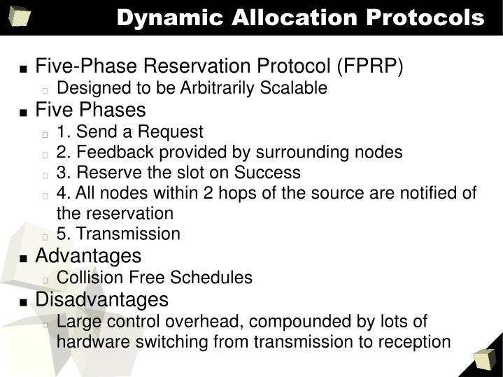 Dynamic Allocation Protocols