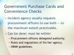 government purchase cards and convenience checks