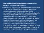 essay empowerment and disempowerment Free essay: women empowerment: since the older times, women have been treated as second rate citizens of all across the globe the situation is almost the.