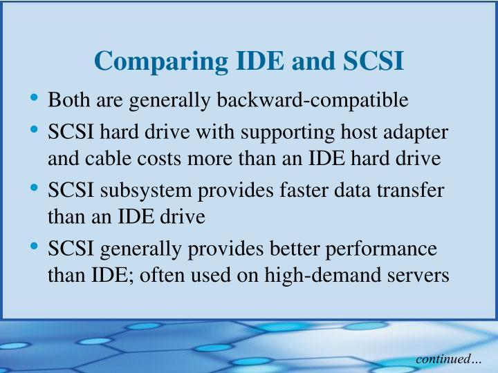 Comparing IDE and SCSI