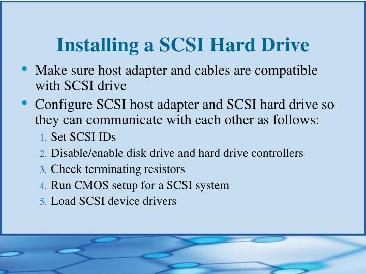 Installing a SCSI Hard Drive