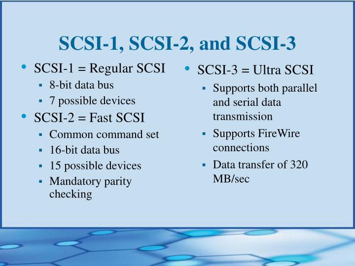 SCSI-1 = Regular SCSI