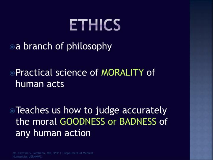 the morality of human act I human acts and acts of man human acts are different from acts of man we cannot talk about goodness and badness of an act if we are dealing with acts of man morality and the human genome project does the human genome project affect the moral standards of society.