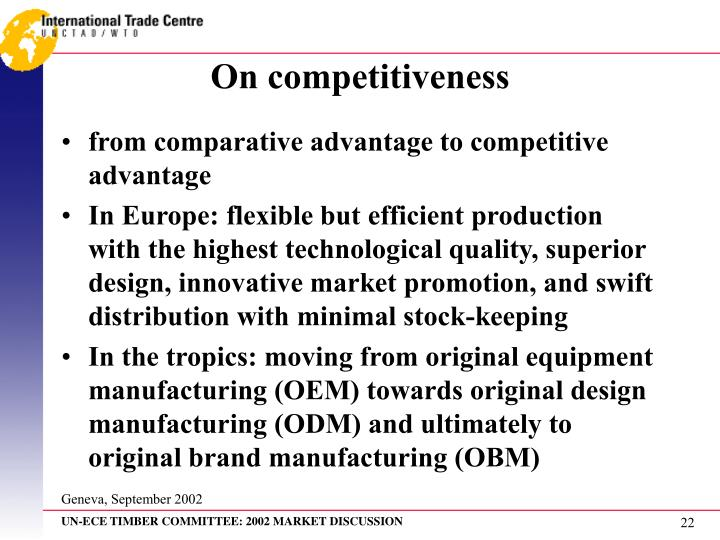 On competitiveness