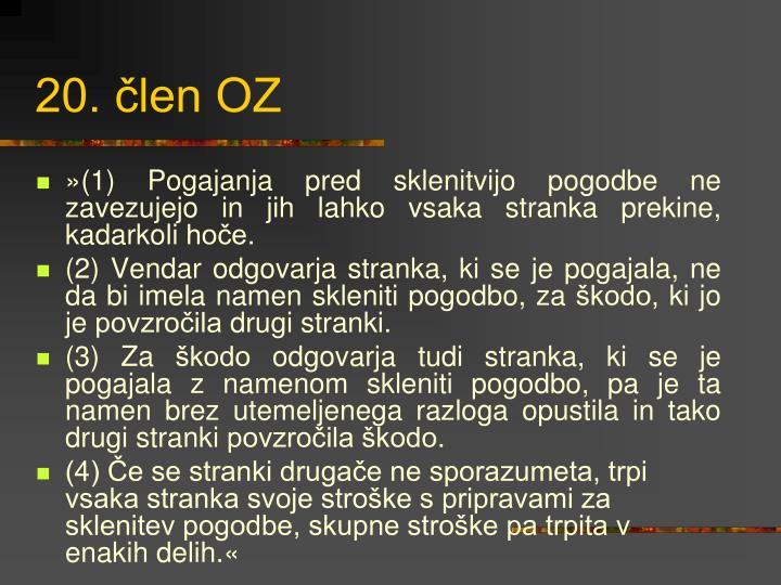 20. člen OZ