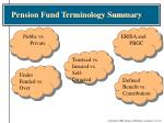 pension fund terminology summary1