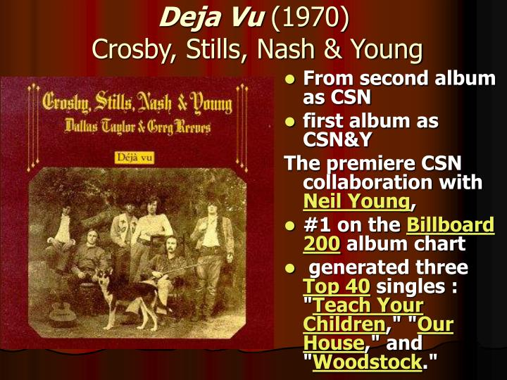 From second album as CSN