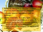 fqpa and children