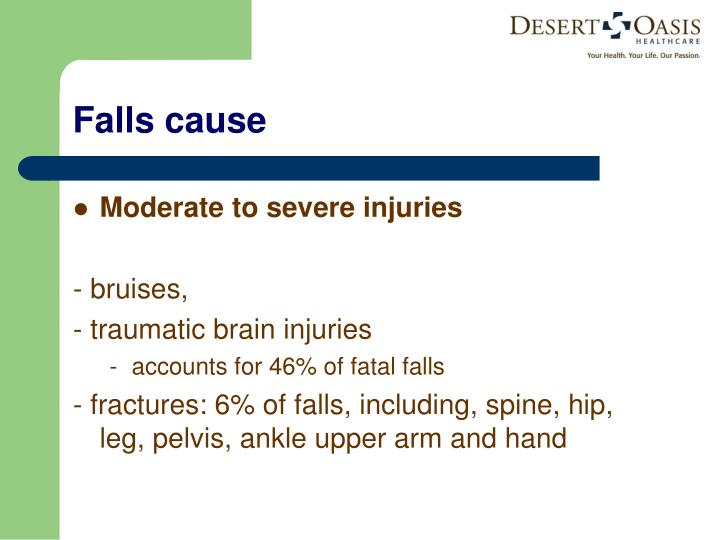 Moderate to severe injuries