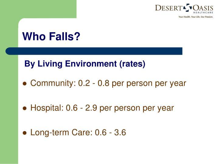 Community: 0.2 - 0.8 per person per year