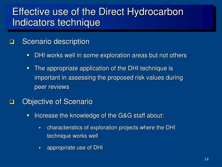 Effective use of the Direct Hydrocarbon Indicators technique
