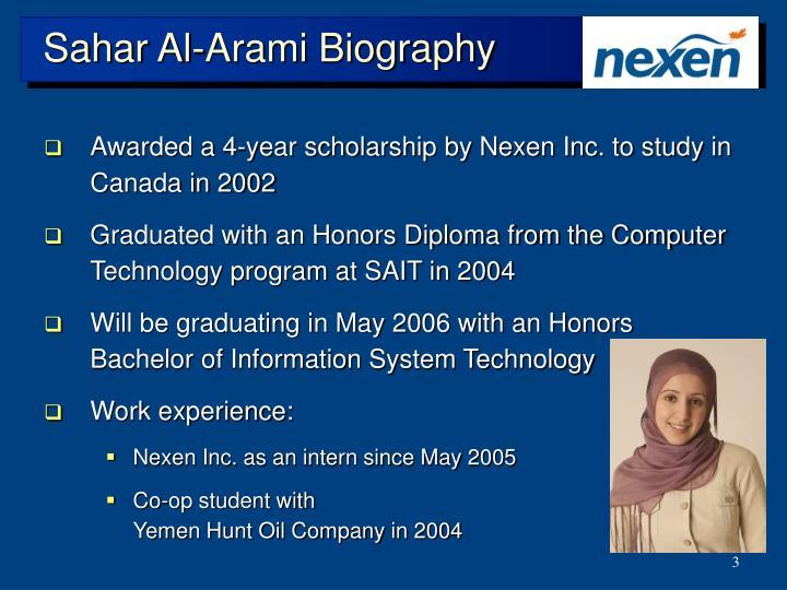 Sahar al arami biography