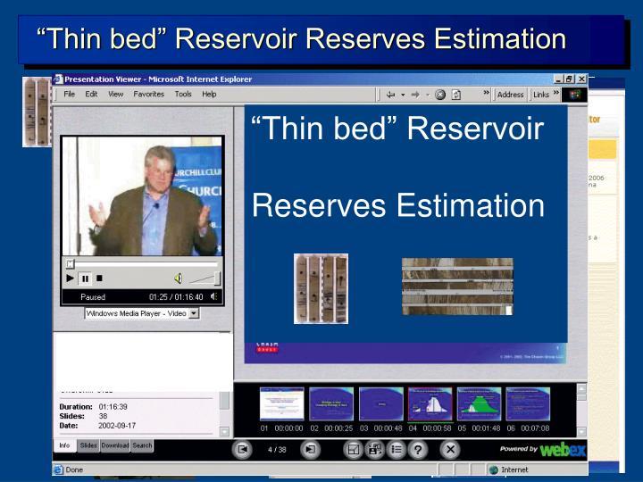 """Thin bed"" Reservoir Reserves Estimation"