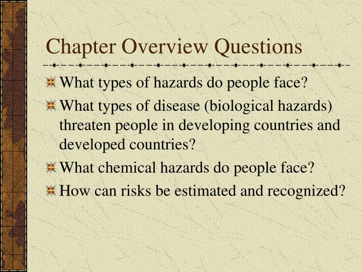 Chapter overview questions1