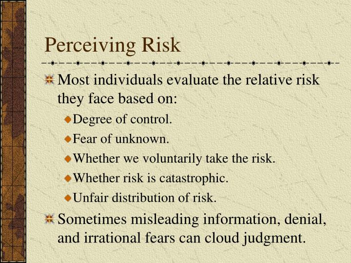 Perceiving Risk