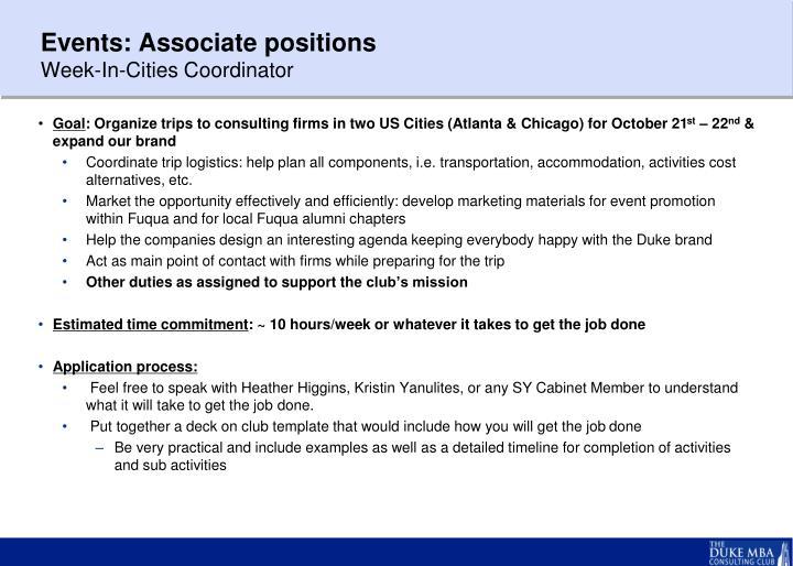 Events: Associate
