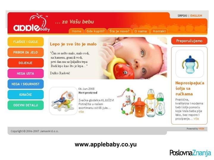 www.applebaby.co.yu