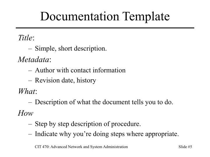 Documentation Template