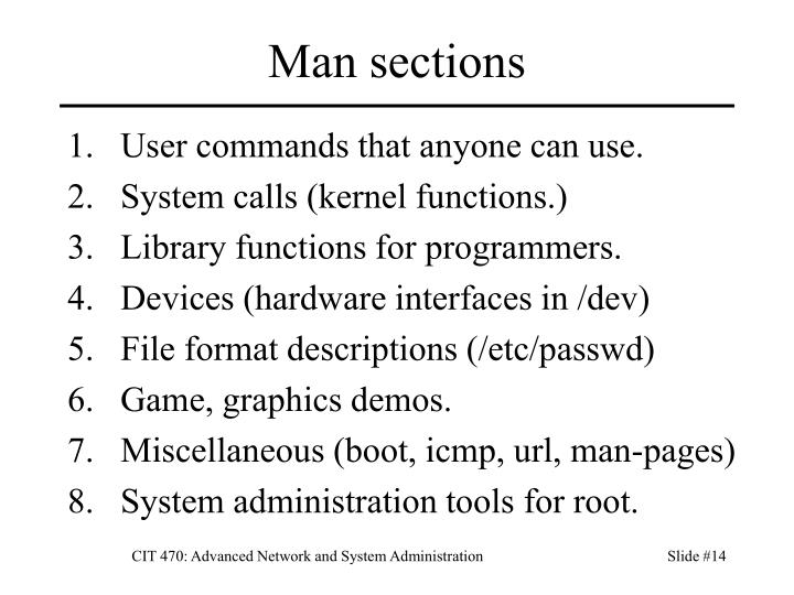 Man sections
