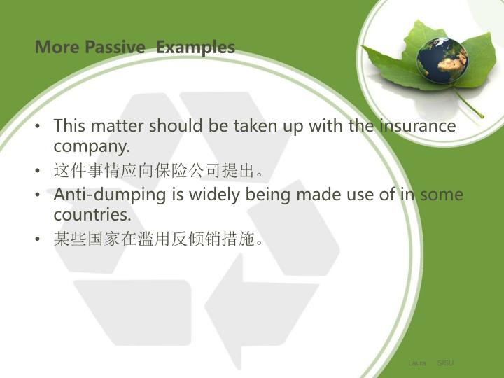 More Passive  Examples