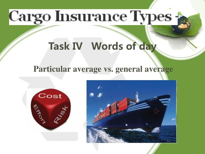 Task IV   Words of day