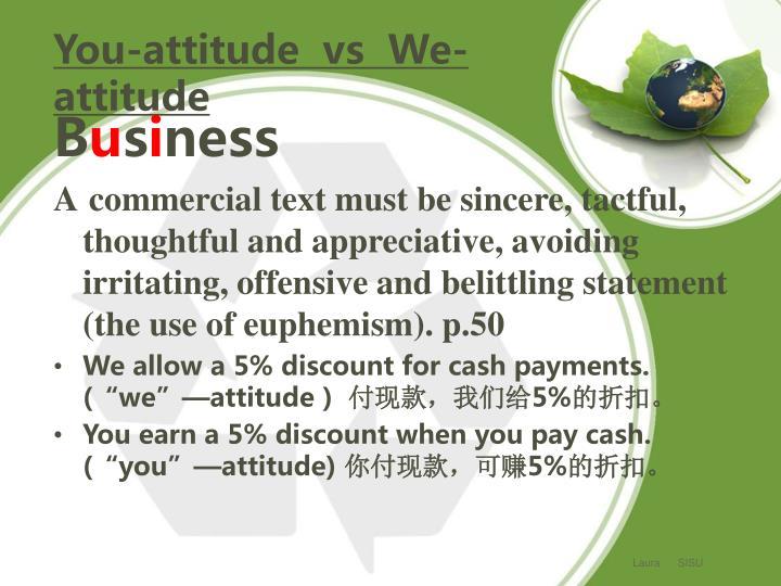 You-attitude  vs  We-attitude