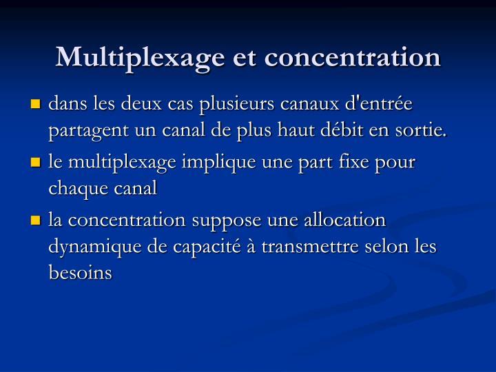 Multiplexage et concentration