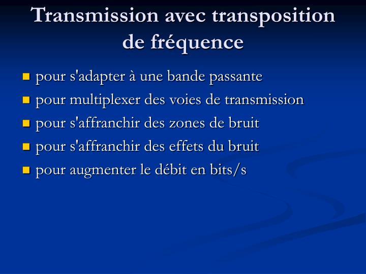 Transmission avec transposition de fréquence