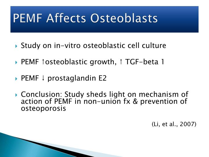 PEMF Affects Osteoblasts