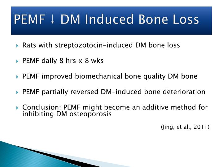 PEMF ↓ DM Induced Bone Loss