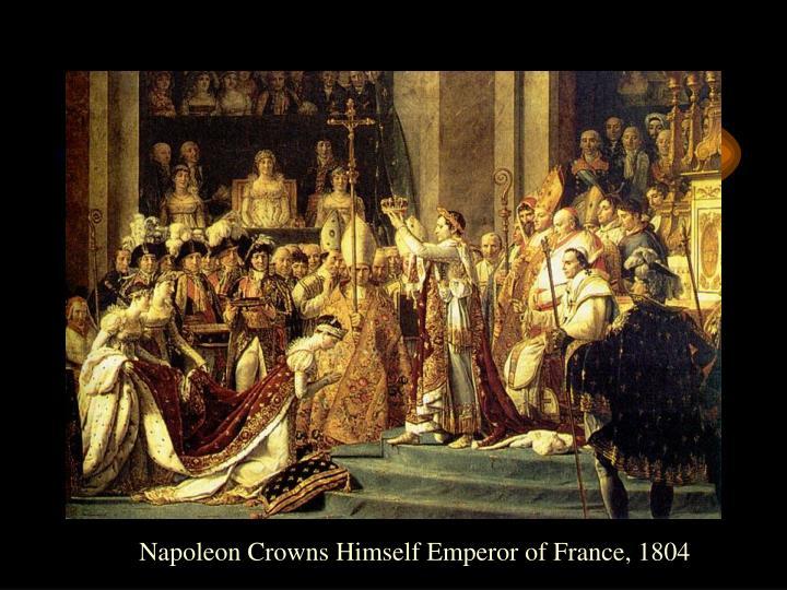Napoleon Crowns Himself Emperor of France, 1804