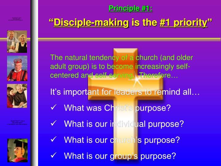 Principle #1: