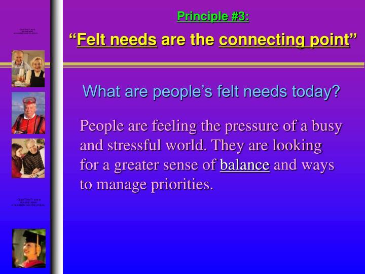 Principle #3:
