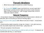 forced vibrations