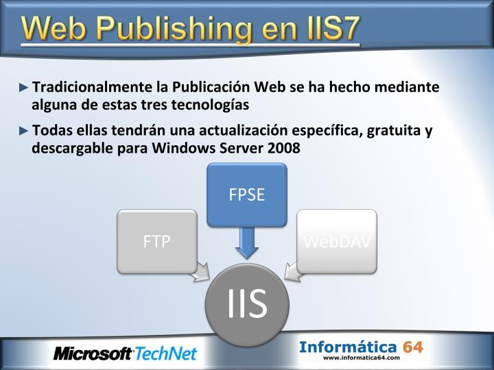 Web Publishing en IIS7