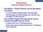 writing skills research report planner