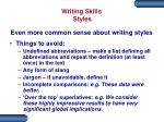 writing skills styles5