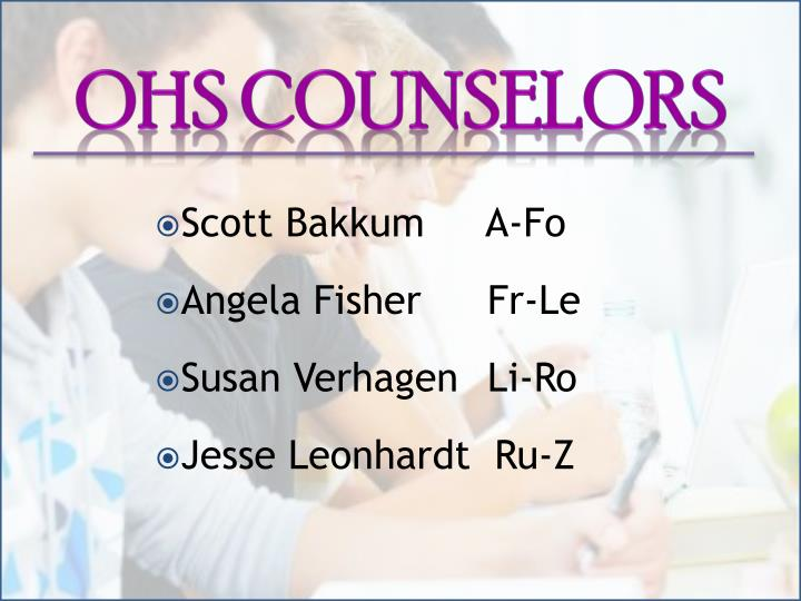 OHS Counselors