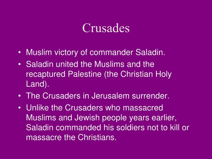 Muslim victory of commander Saladin.