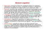 sintomi cognitivi
