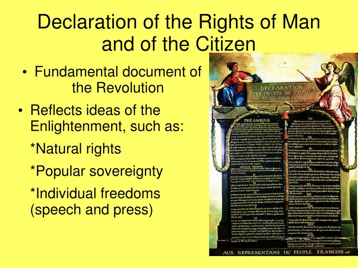 the declaration of the rights of man and of the citizen essay Few political documents have affected the world quite like the american declaration of independence or the french declaration of the rights of man and citizen.