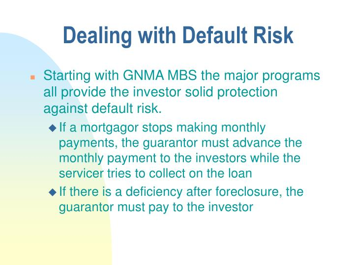 Dealing with Default Risk