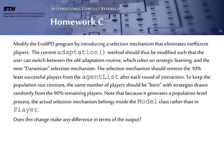 Homework C