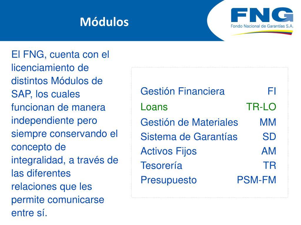 Ppt Proyecto Sistematización Cartera Modulo Loans De Sap
