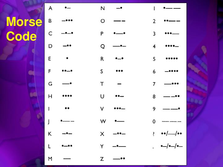 Ppt dna blueprint for life powerpoint presentation id4121653 morse code malvernweather Images