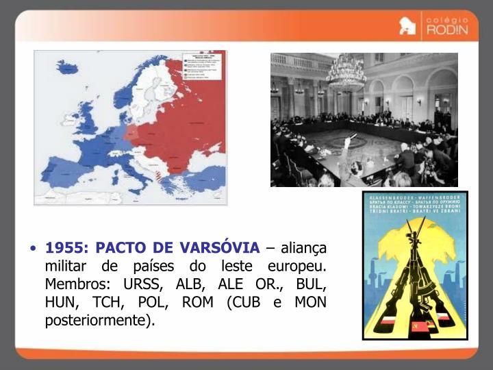 1955: PACTO DE VARSÓVIA