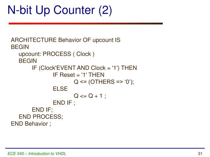 N-bit Up Counter (2)