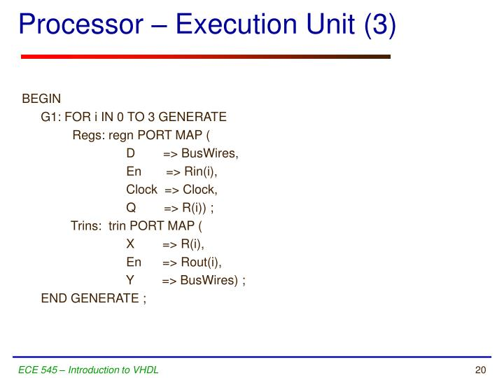 Processor – Execution Unit (3)