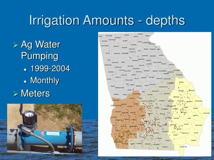 Irrigation Amounts - depths
